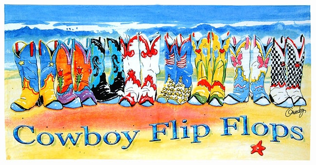 Cowboy Flip Flops Beach Towel (Set of 3)
