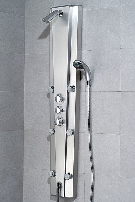 Vigo 6 Jet Thermostatic Stainless Steel Shower Panel