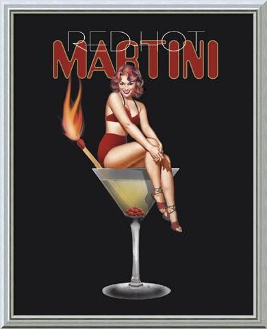 38859e9dabf38 Ralph Burch 'Red Hot Martini' Framed Canvas Art