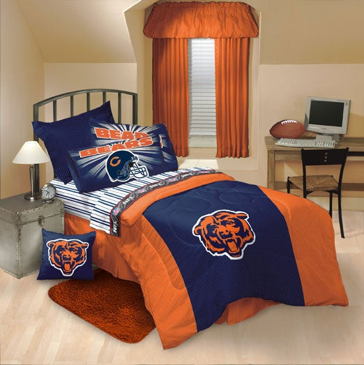 aaa1556a Chicago Bears Comforter and Sheet Set