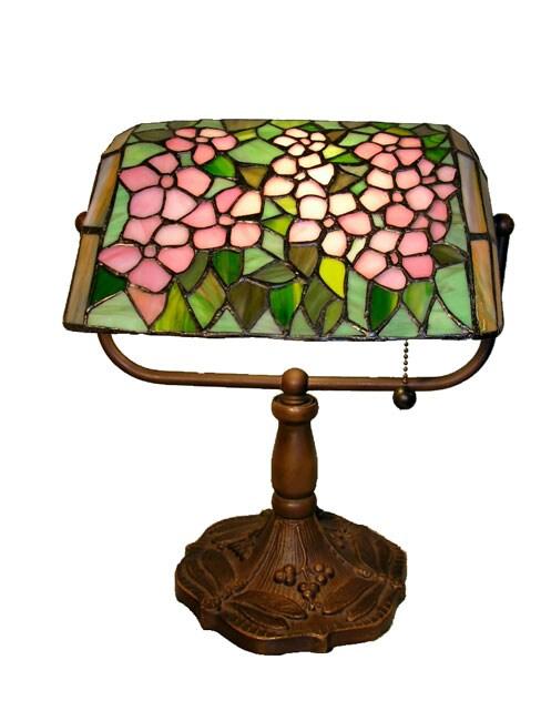 Tiffany Style Flower Banker Desk Lamp Free Shipping