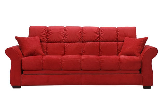 Hollywood Jazz Crimson Red Futon Sofa Bed Free Shipping