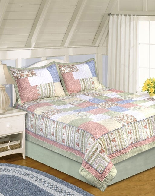 Passion Patch All Cotton Patchwork 3-piece Quilt Set