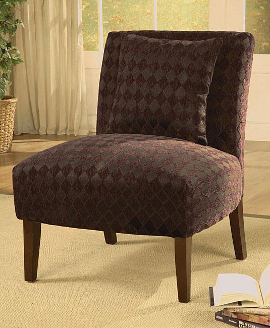Accent Chair Plum Argyle
