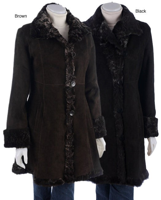 7dbf25399c8 Shop BlueDuck Genuine Shearling Fitted Coat - Free Shipping Today -  Overstock - 2667074