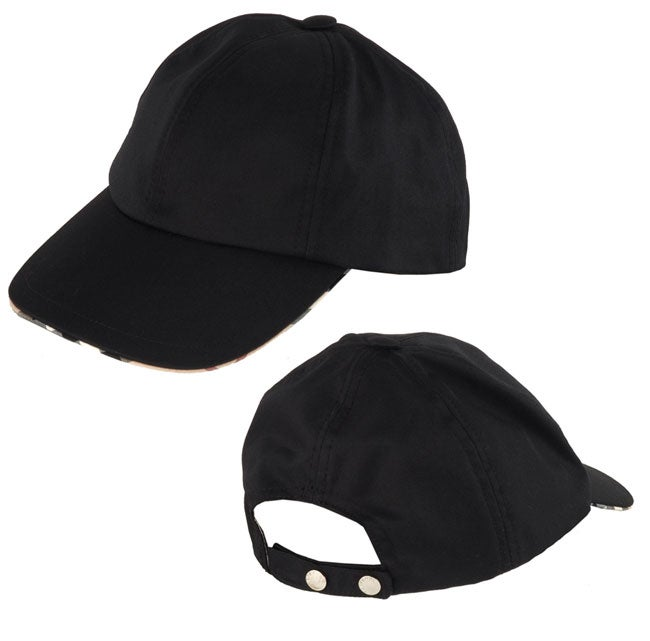 burberry baseball cap brush logos authentic plaid hat fabric trim