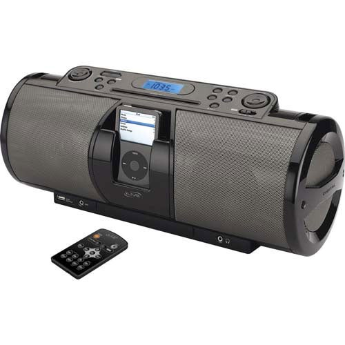 Black iLive Docking System and Boombox with Speakers for iPod and MP3 Players