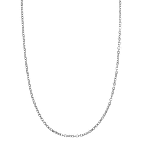 14k White Gold 20-inch Cable Necklace