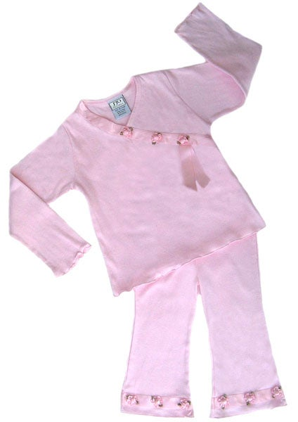 Sweet Jojo Designs 2-piece Pink Satin Ribbon Outfit