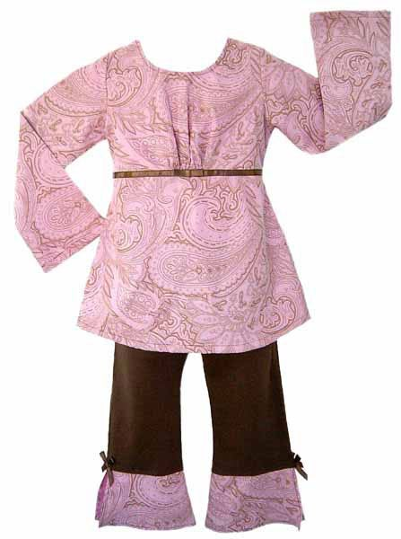 Sweet Jojo Designs 2-piece Pink Paisley Baby Girl Outfit