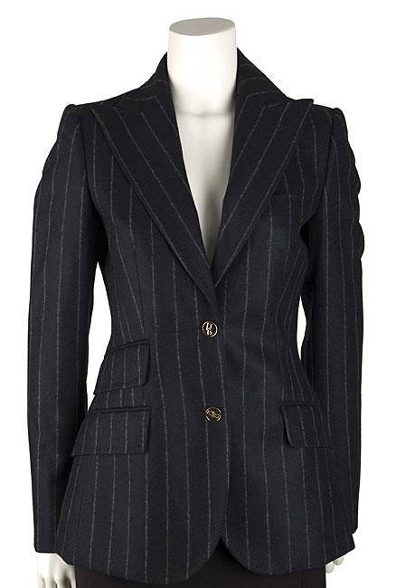 Dolce & Gabbana Chalk Stripe Two-button Blazer