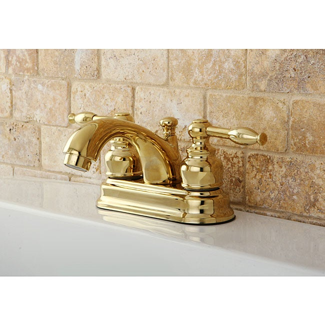 Knight Polished Brass 4-inch Centerset Bathroom Faucet - Free ...
