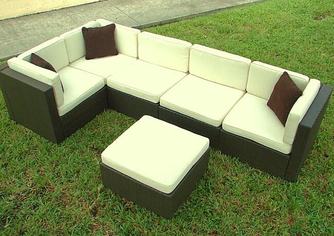 Shop Aventura Patio Sofa Set Free Shipping Today Overstock 2669600