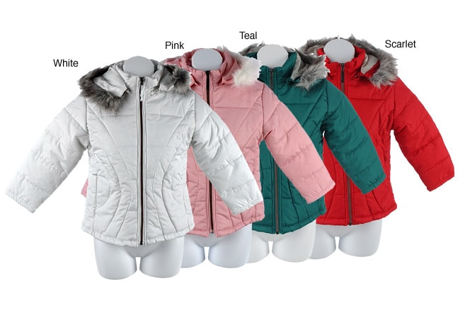 Girl's Fur-lined Hooded Jacket