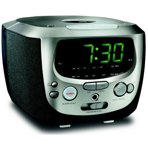philips aj3910 am fm radio clock cd player free shipping on orders over 45. Black Bedroom Furniture Sets. Home Design Ideas