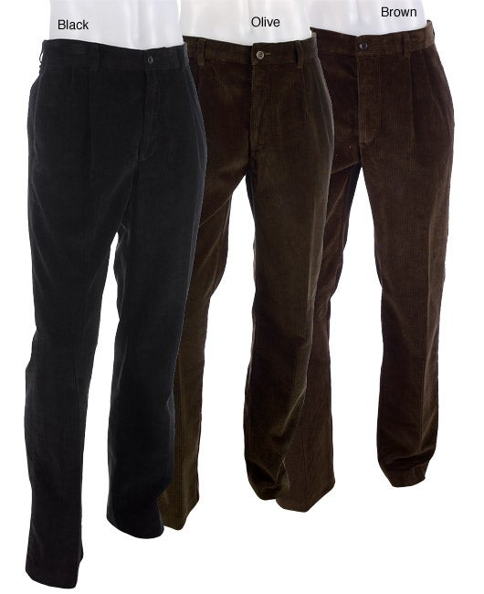 Joseph Abboud Men's Wide Wale Corduroy Pants - Free Shipping Today ...