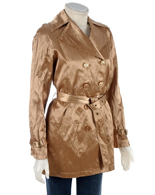 MICHAEL Michael Kors Metallic Gold Trench Coat