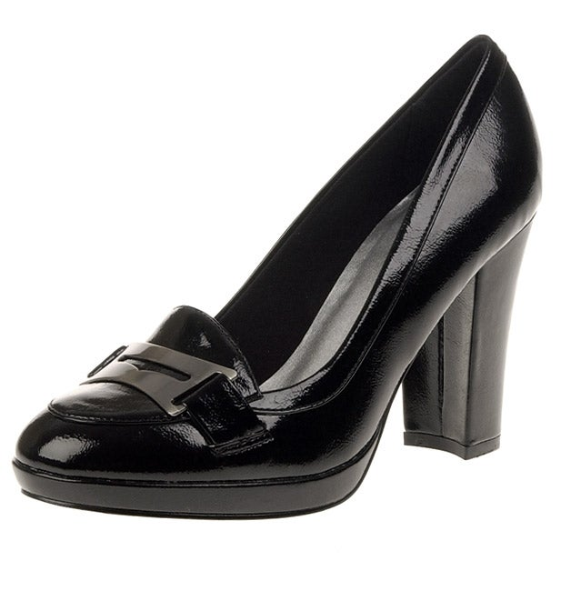 Cl By Laundry Blue Ribbon High Heel Loafer Pump Free