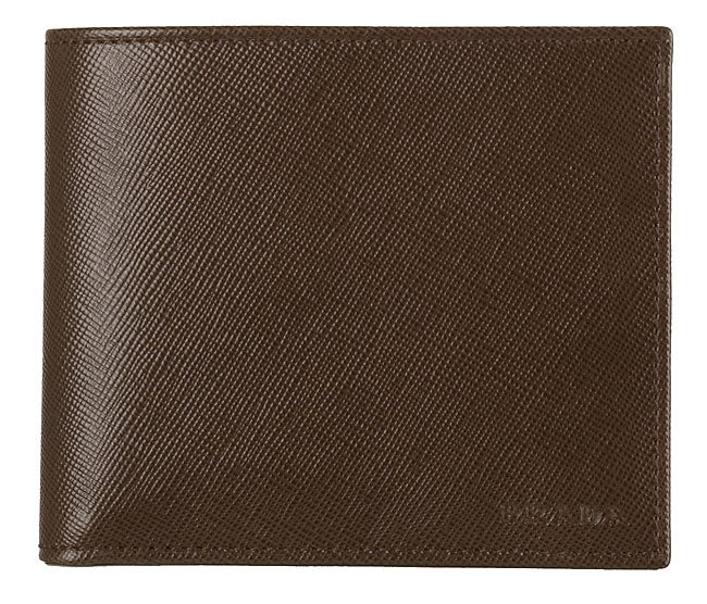 3c09b476d77488 Shop Prada Brown Saffiano Leather Men's Wallet - Free Shipping Today -  Overstock - 2674875