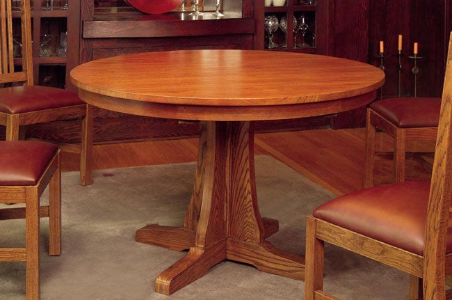 Mission Oak Small Round Dining Table Free Shipping Today