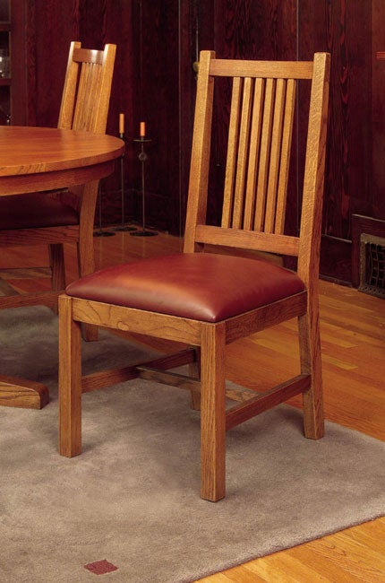 mission solid oak small dining chair set of 2 free shipping today