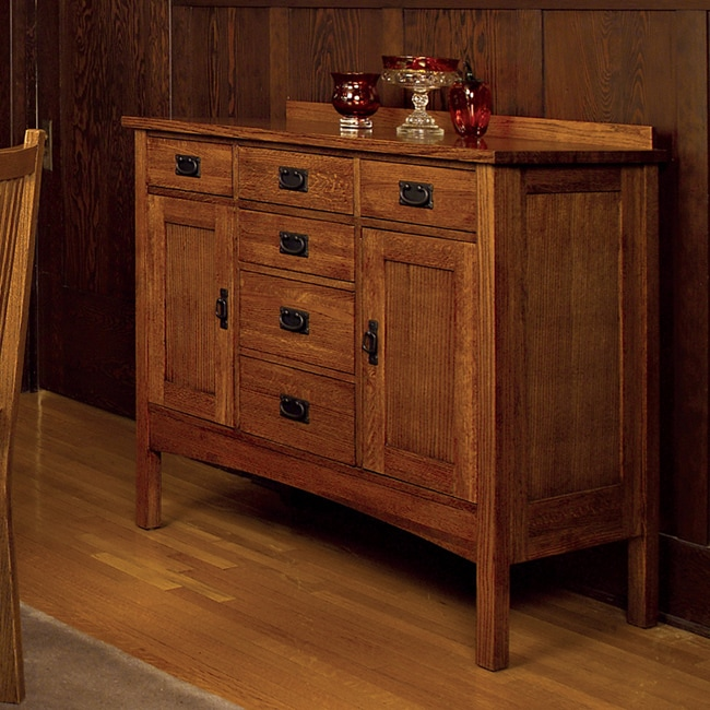 Mission Solid Oak Small Sideboard Buffet Free Shipping