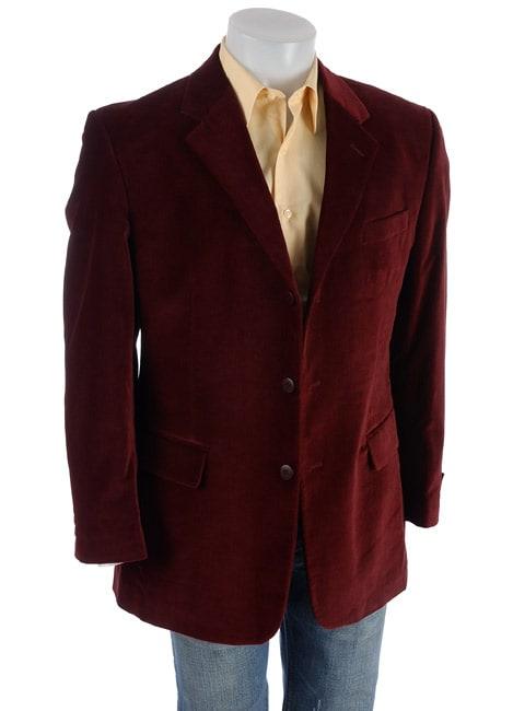 Adolfo Men's Burgundy Velvet Sportcoat