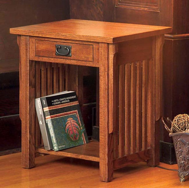 Mission Solid Oak End Table Free Shipping Today