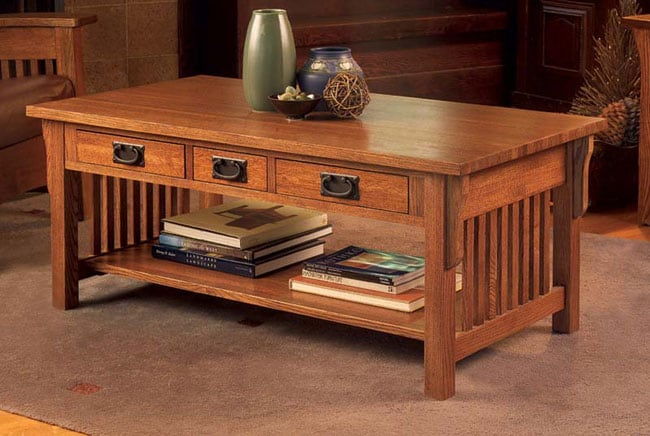 Mission Solid Oak Coffee Table Free Shipping Today