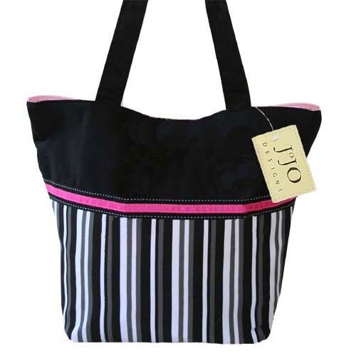 Sweet JoJo Designs Multicolor Stripe Tote