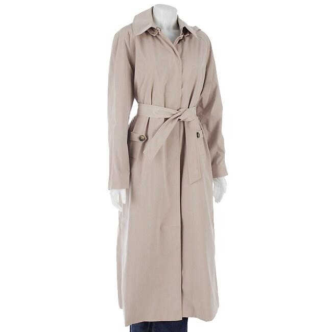 London Fog Women's Long Raincoat