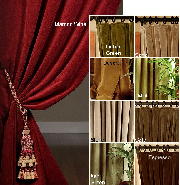 Signature Velvet Double Wide Curtain 108 In