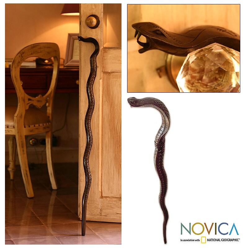 'Cobra Head' Wooden Walking Stick (Indonesia)