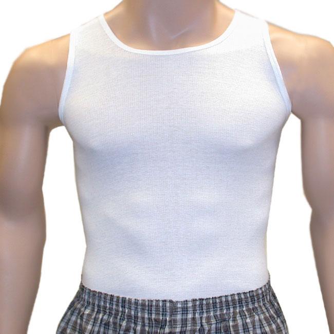 Knocker Men's White A-shirts 6-piece Pack