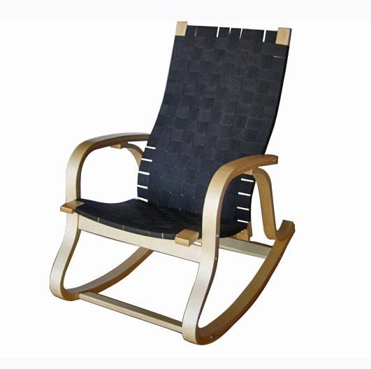 Bentwood Rocker with Black Nylon Web Seat