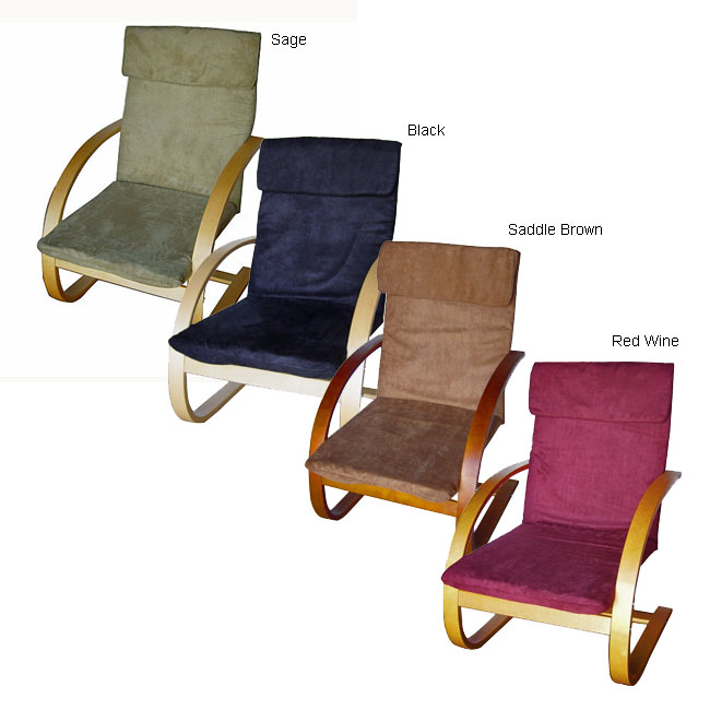 Bentwood Chair with Padded Microsuede Seat