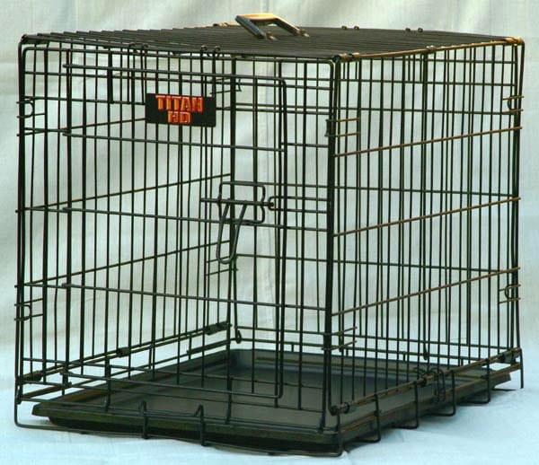 "Majestic Pet ""Titan"" Single Door 42-inch Folding Dog Crate"