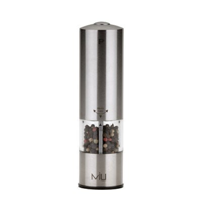MIU France Stainless Steel Electric Peppermill