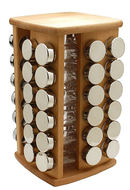 Shop Miu France 48 Jar Beechwood Spice Rack Free