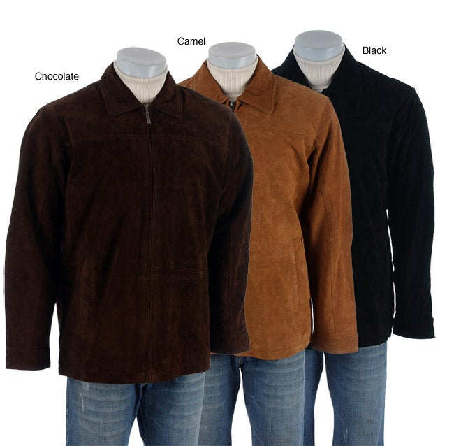 9156916801e1 Shop Boston Harbor Men s Suede Jacket - Free Shipping Today - Overstock -  2681242