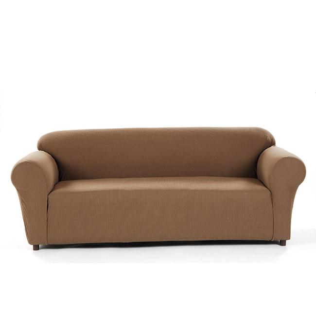 Pebble Check Stretch Sofa Slipcover
