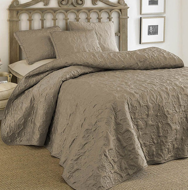 Toscana Taupe Bedspread and Sham Set - Free Shipping Today ...