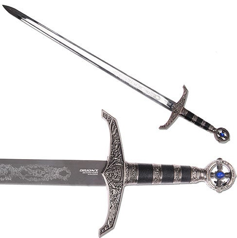 Medieval Robin Hood Longsword with Wall Plaque