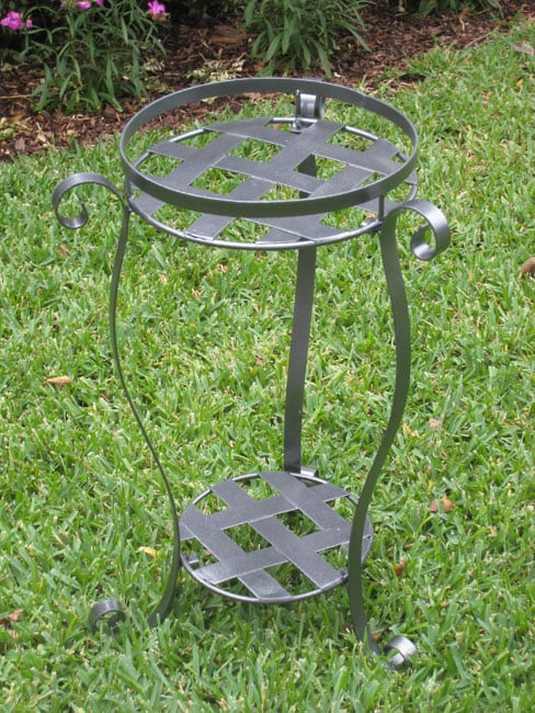 Iron Round 2 Tier Plant Stand Free Shipping On Orders