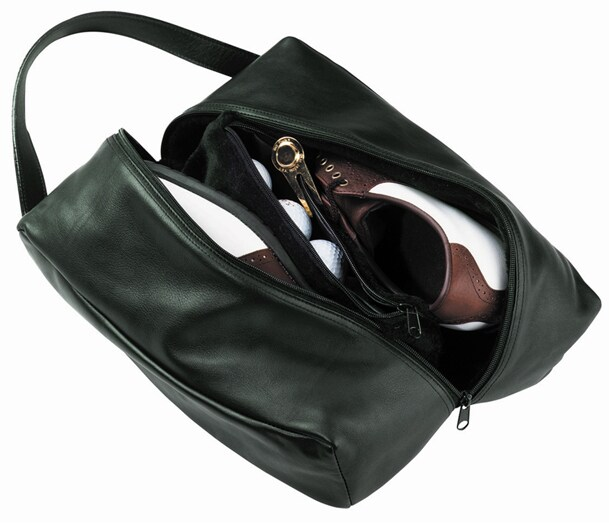 Royce Leather Deluxe Dark Green Shoe Bag