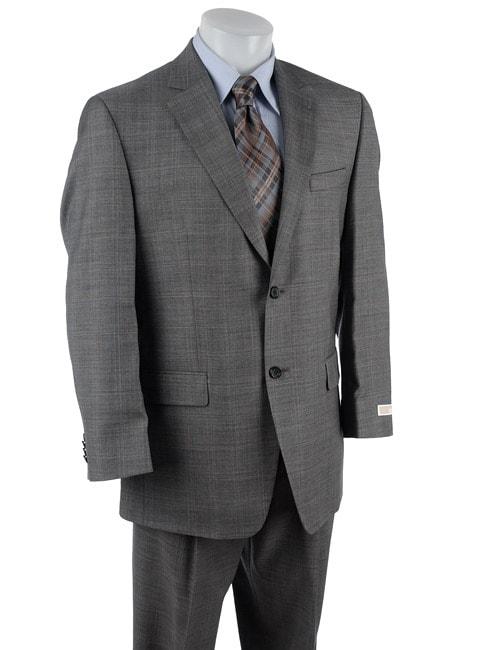 Michael Kors Men's Grey Plaid 2-button Wool Suit