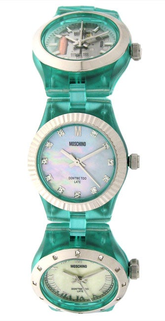 Moschino 'Don't Be Too Late' Women's 5-dial Watch