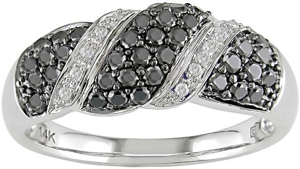 14k Gold 3/4ct TDW Black and White Diamond Ring (I-J, I1-I2)