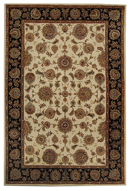 Safavieh Handmade Legends Ivory/ Black Wool and Silk Rug (4' x 6')