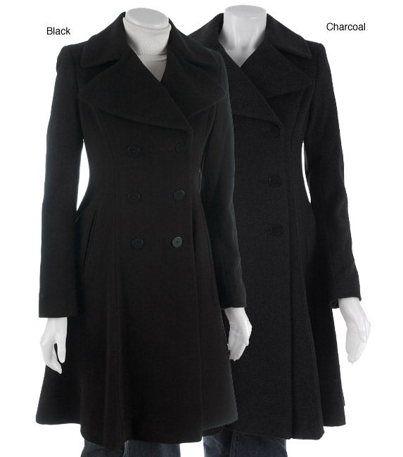 DKNY Cashmere Blend Fit & Flare Wool Swing Coat - Free Shipping